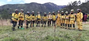 Imbabura cuenta con dos brigadas acreditadas para el combate de incendios forestales.